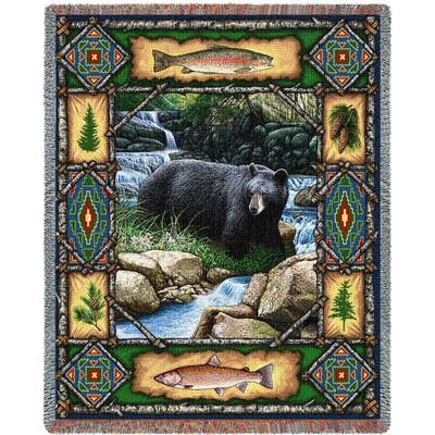 Bear Lodge Tapestry Throw Blanket | Pure Country | 1572T