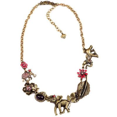 Elephant Asymmetrical Necklace  | Nature Jewelry