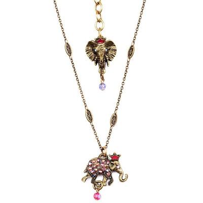 Elephant Charm Pendant Necklace  | La Contessa Jewelry | NK9402FA