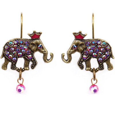 Elephant With Crown Earrings | Nature Jewelry