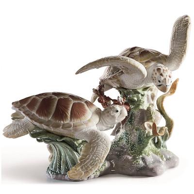 Sea Turtles Porcelain Figurine