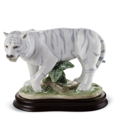 White Tiger Porcelain Figurine
