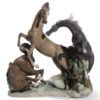 Horse Group Porcelain Figurine