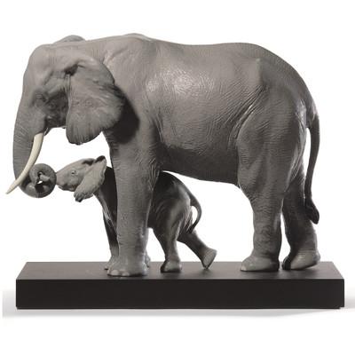 """Elephant Porcelain Figurine """"Leading the Way"""""""