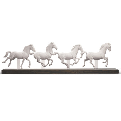 "Horse Porcelain Figurine ""Galloping Herd"""