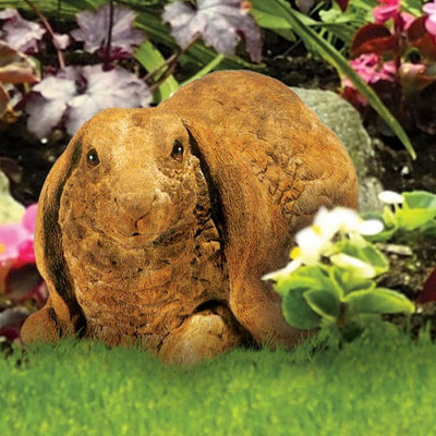 Lop-eared Rabbit Outdoor Concrete Garden Statue