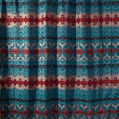 Turquoise Chamarro Shower Curtain