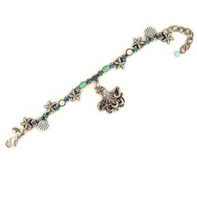 Octopus Single Strand Charm Bracelet | Nature Jewelry