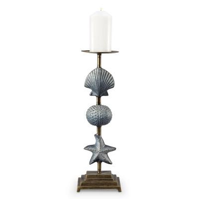 Shell and Starfish Pillar Candle Holder | 34536