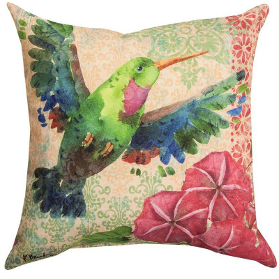 Zealous Hummingbird Indoor/Outdoor Pillow