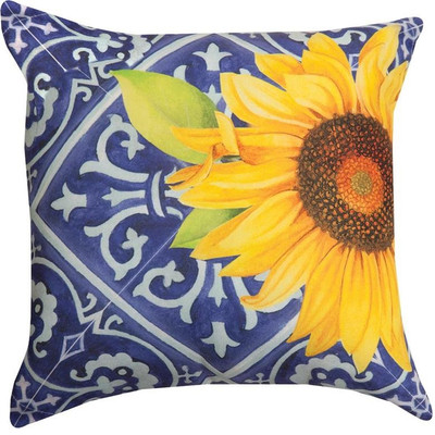Sunflower Indigo Indoor/Outdoor Pillow