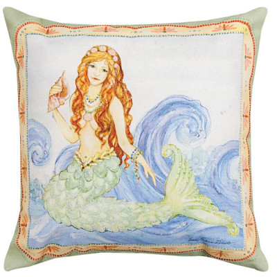 Mermaid Indoor/Outdoor Pillow