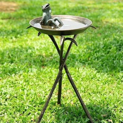 Cool Frog Birdbath   33563
