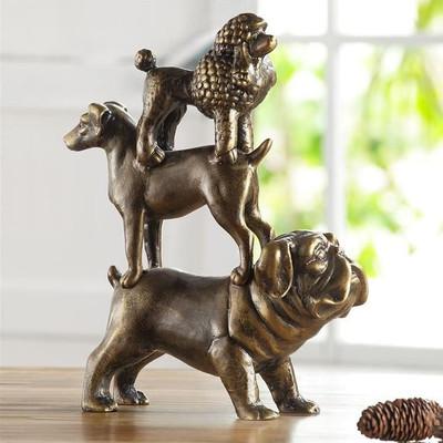 Dog Trio Sculpture | 34051 | SPI Home -2