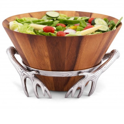 Antler Wood Salad Bowl