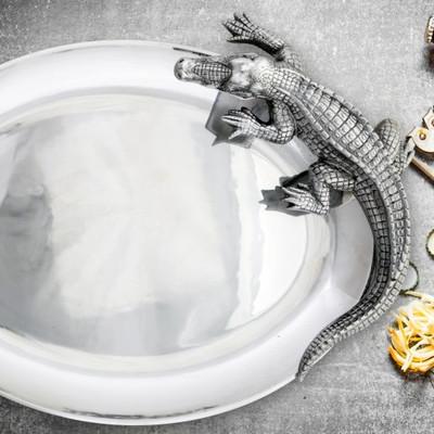 Alligator Oval Platter