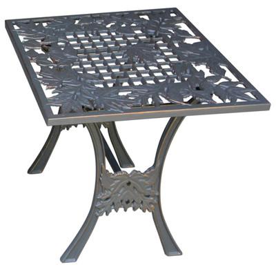 Oak Leaf Iron Outdoor Garden End Table