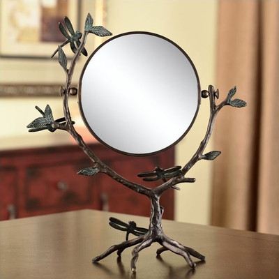 Dragonfly on Branch Vanity Mirror | BP25408