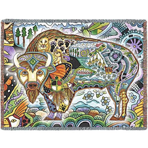 Buffalo Tapestry Throw Blanket