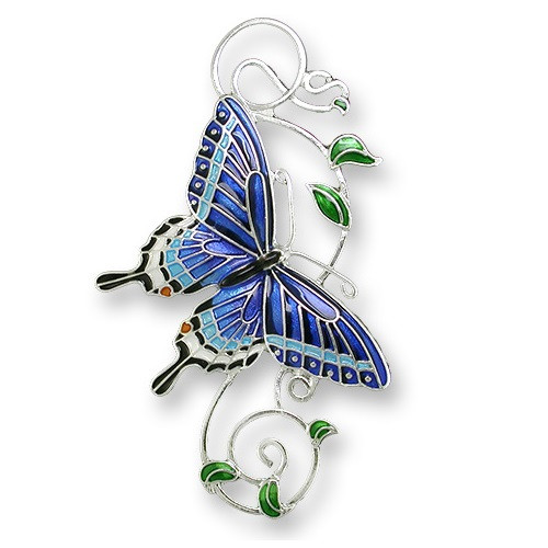 Tiger Swallowtail Butterfly Enameled Pin | Nature Jewelry