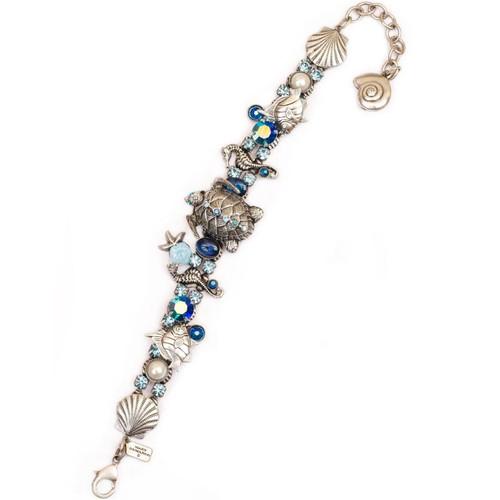 Sea Turtle and Seahorse Bracelet | Nature Jewelry