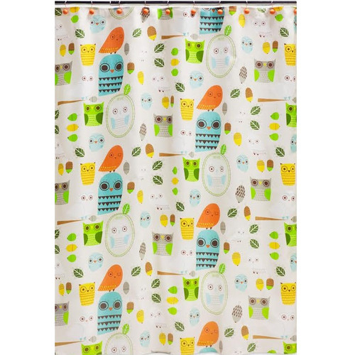 "Owl Shower Curtain ""Give a Hoot"""