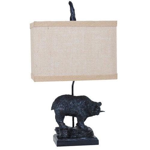 Bear Fishing Table Lamp | Crestview Collection | CVAVP133