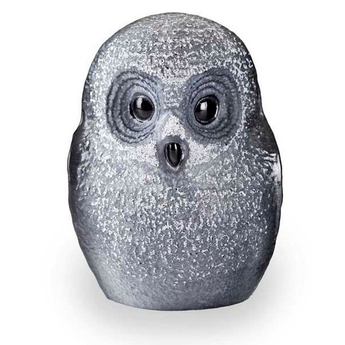 Owl Black Crystal Sculpture | 34052 | Mats Jonasson Maleras-1