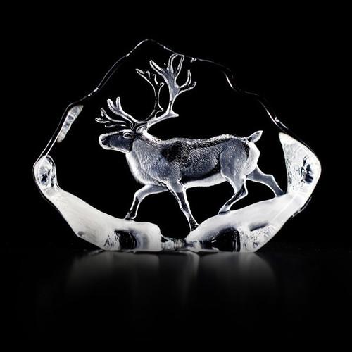 Reindeer Crystal Sculpture | 33597