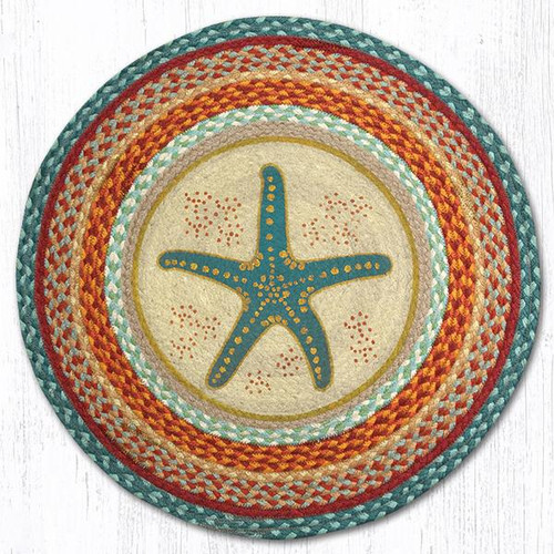 Starfish Round Braided Rug | Capitol Earth Rugs | RP-397