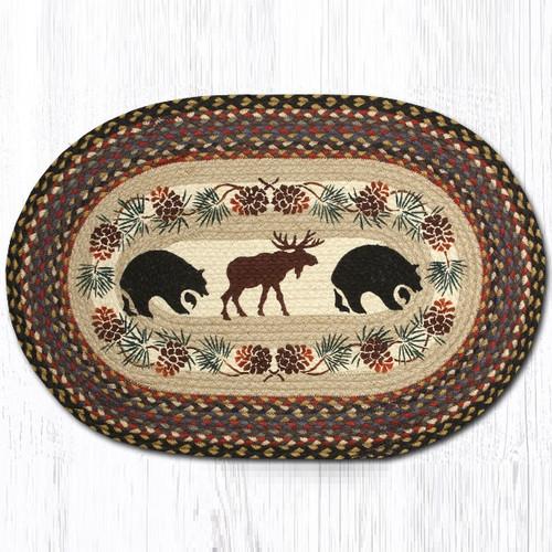 Used Oval Braided Rugs: Bear Cub And Mama Oval Braided Rug