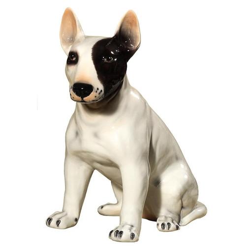 Bull Terrier Ceramic Dog Sculpture