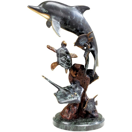 Dolphin and Friends Sculpture   30299