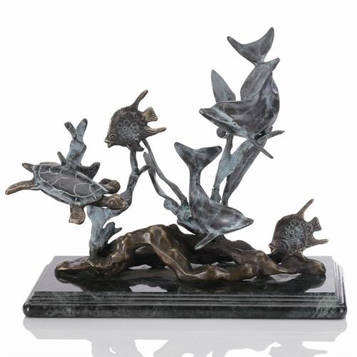 Dolphin Seaworld Sculpture   30288
