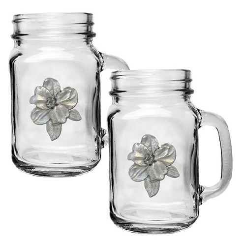 Apple Blossom Mason Jar Mug Set of 2