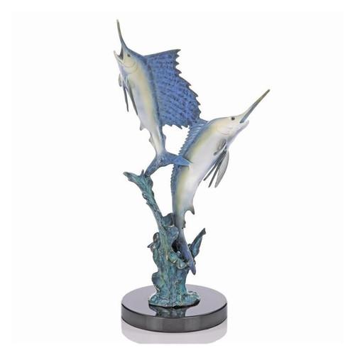 "Marlin-Sailfish Sculpture ""Islamorada Two Step"" | 80122"