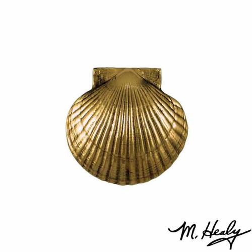 Bay Scallop Brass Door Knocker
