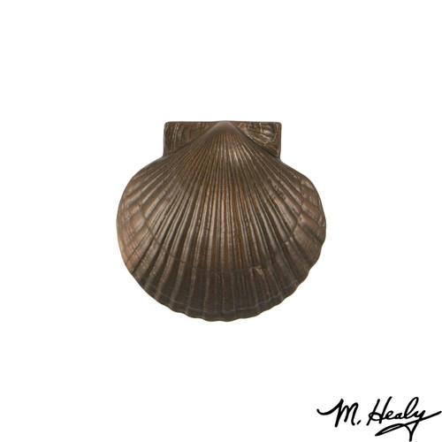 Bay Scallop Oiled Bronze Door Knocker