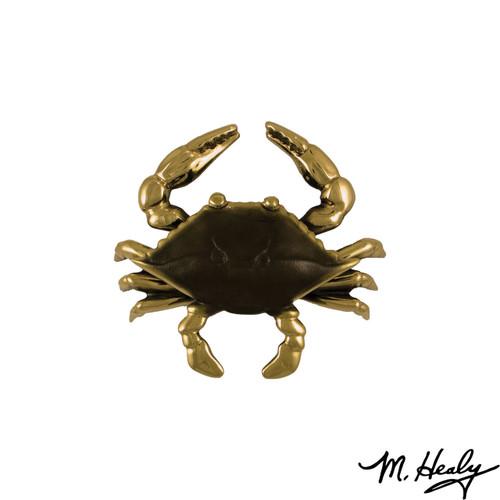 Blue Crab Brass Door Knocker