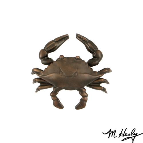 Blue Crab Oiled Bronze Door Knocker