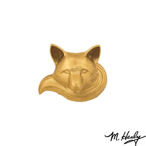 Fox Brass Door Knocker