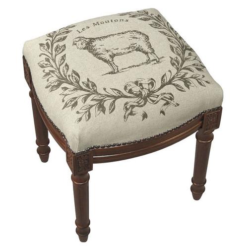 Sheep Linen Vanity Stool