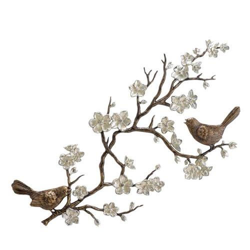 Bird and Cherry Blossom Wall Plaque | 33515