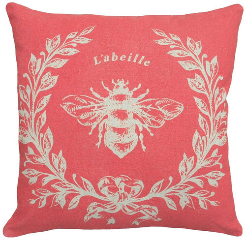 Bee French Linen Pillow