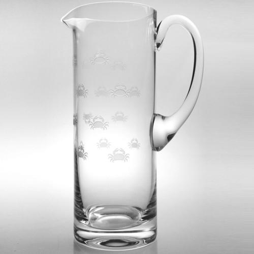 Crab Glass Pitcher