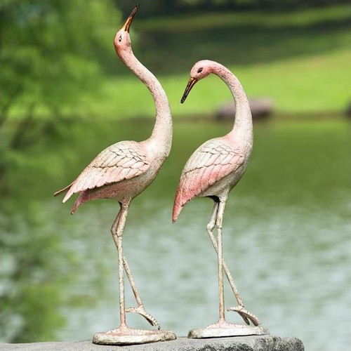"Crane Sculpture ""Flamboyant Pair"" | 50900"