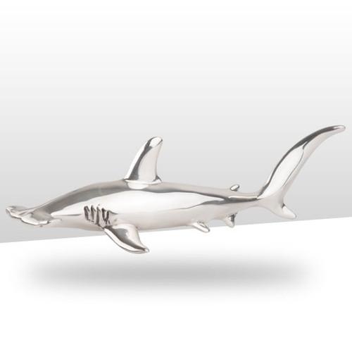 Hammerhead Shark Silver Plated Sculpture   A91