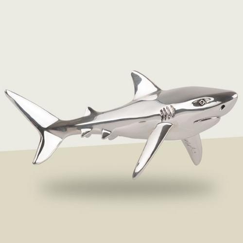 Shark Silver Plated Sculpture   A92