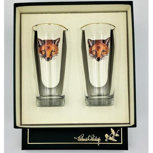 "Fox Beer Glass Set ""Fox Mask"""