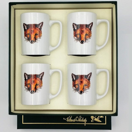 "Fox Porcelain Coffee Mug Set ""Fox Mask"""